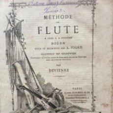 Libros antiguos: MÉTHODE DE FLUTE A CLÉS & A SYSTÉME BOEHM... PARA DEVIENNE. 185?. MUY RARO. ILUSTRADO. Lote 204600092