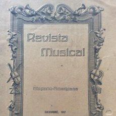 Libros antiguos: REVISTA MUSICAL, DICIEMBRE, 1917. Lote 204620817