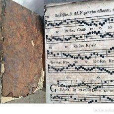 Libros antiguos: AÑO 1759. ENORME CANTORAL IN FOLIO. 41 CM. SIGLO XVIII. EPÍTOME GRADUALIS ROMANI.. Lote 205122057