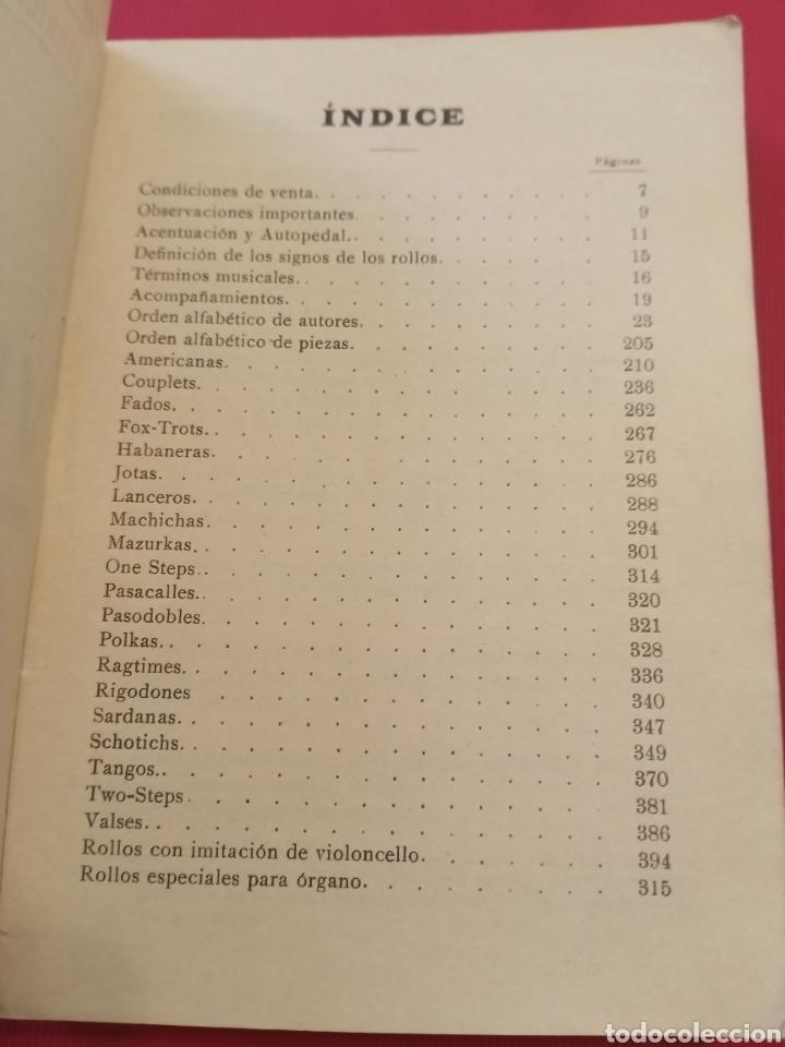 Libros antiguos: Catálogo Rollos Música Victoria - Foto 2 - 206483118