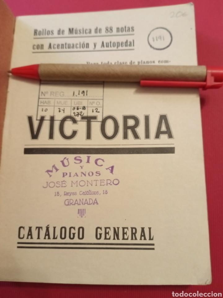 Libros antiguos: Catálogo Rollos Música Victoria - Foto 3 - 206483118