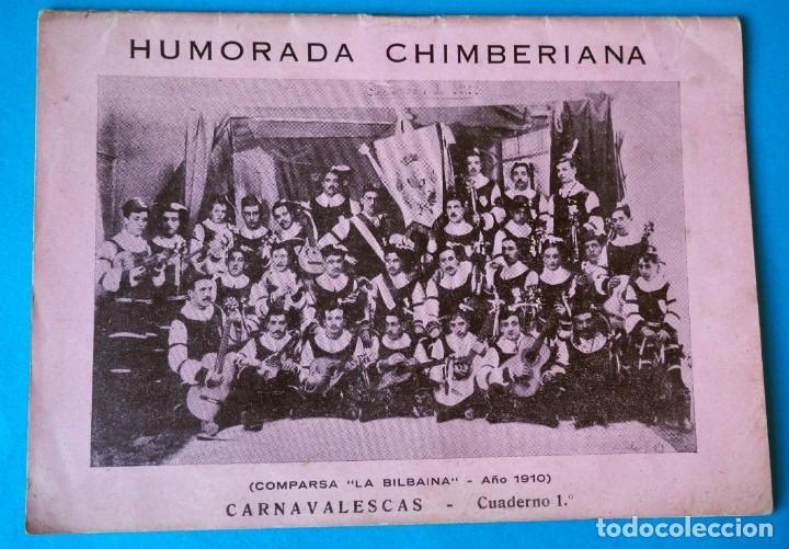 HUMORADA CHIMBERIANA CARNAVALESCAS POR JULIÁN ALEGRÍA. IMPRESOS MUSICALES ORDORICA .BILBAO 1945 (Libros Antiguos, Raros y Curiosos - Bellas artes, ocio y coleccion - Música)