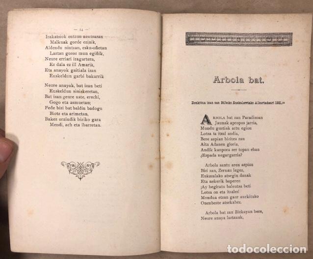 Libros antiguos: KANTU ERRIKOIAK. ANTIGUO LIBRO DE CANCIONES POPULARES VASCAS. EDITADO SOBRE 1900. EUSKERA. - Foto 5 - 208112583