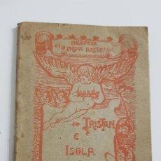 Libros antiguos: TRISTÁN E ISOLDA POR F. LUIS OBIOLS. DEDICADO A TEODORO SAN JOSÉ Y FIRMADO POR EL AUTOR. 1900. Lote 209125408