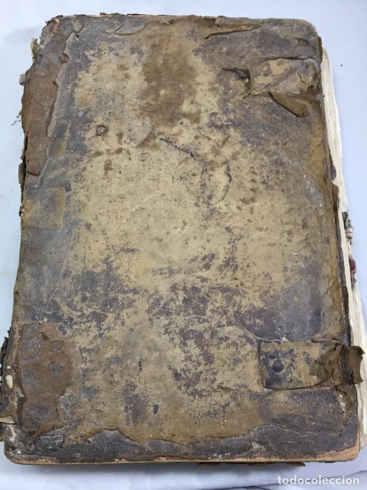 Libros antiguos: Antifonario español siglo XVI portadas madera y piel 1596 mas de 300 páginas daños de uso - Foto 3 - 210080728
