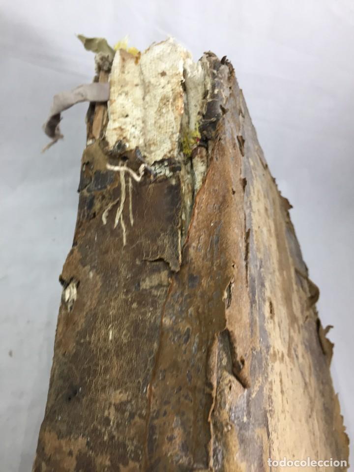 Libros antiguos: Antifonario español siglo XVI portadas madera y piel 1596 mas de 300 páginas daños de uso - Foto 24 - 210080728