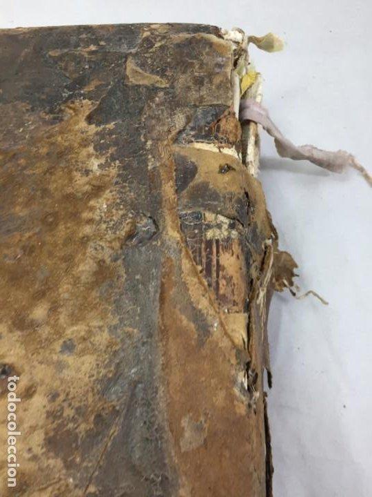 Libros antiguos: Antifonario español siglo XVI portadas madera y piel 1596 mas de 300 páginas daños de uso - Foto 26 - 210080728