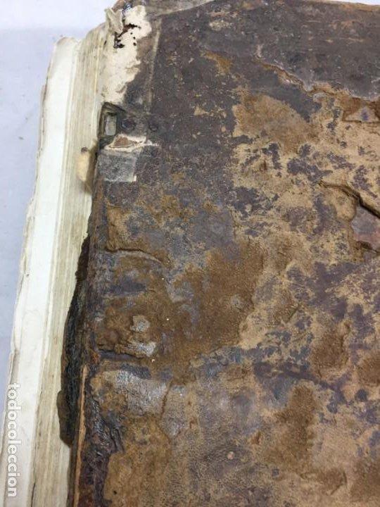 Libros antiguos: Antifonario español siglo XVI portadas madera y piel 1596 mas de 300 páginas daños de uso - Foto 31 - 210080728