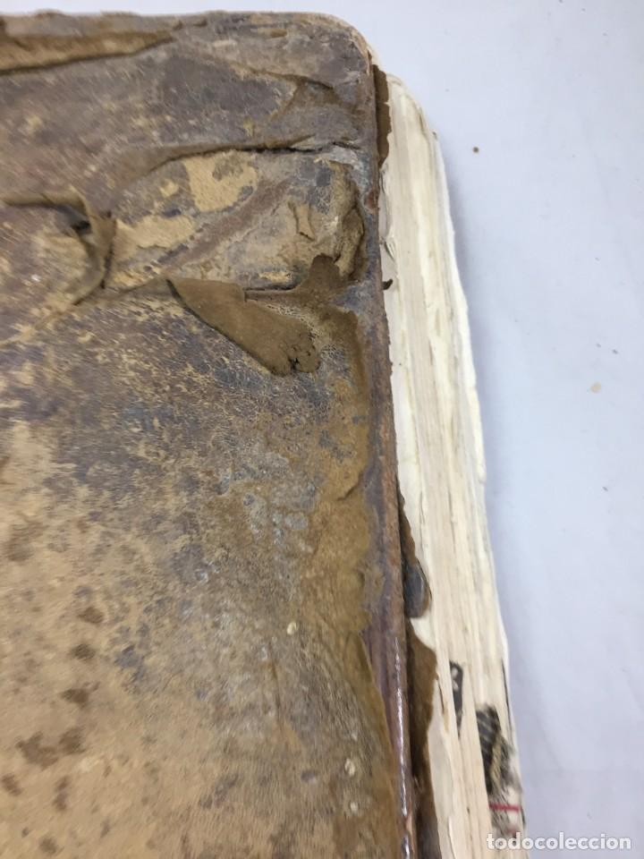 Libros antiguos: Antifonario español siglo XVI portadas madera y piel 1596 mas de 300 páginas daños de uso - Foto 29 - 210080728