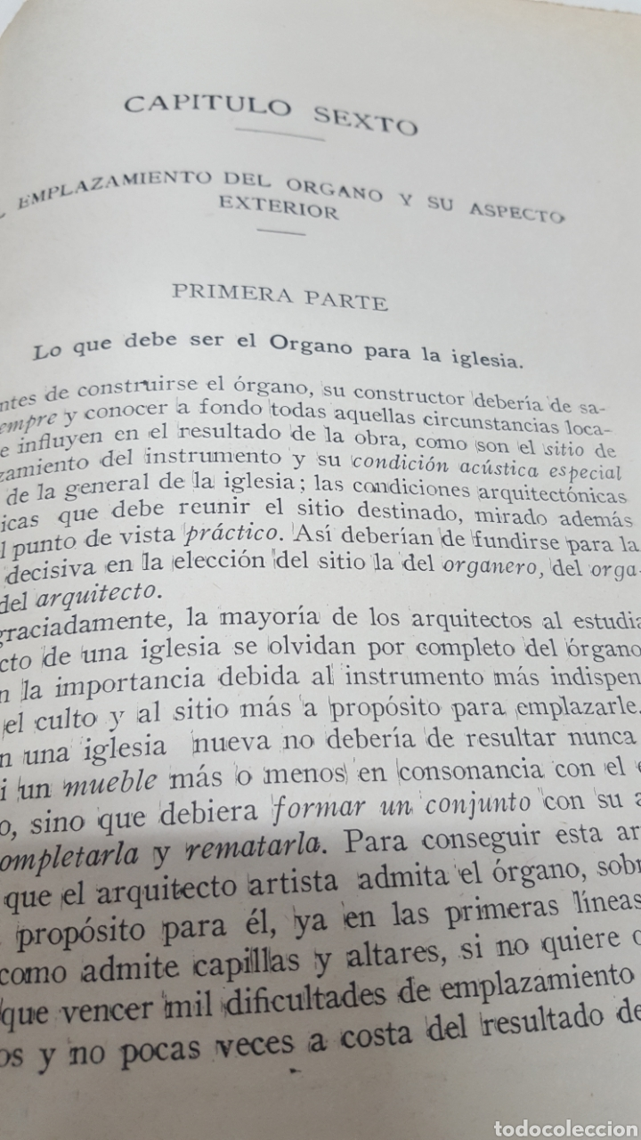 Libros antiguos: MERKLIN, Alberto: ORGANOLOGÍA Exposición científica y gráfica del órgano en todos sus elementos 1924 - Foto 8 - 210100270