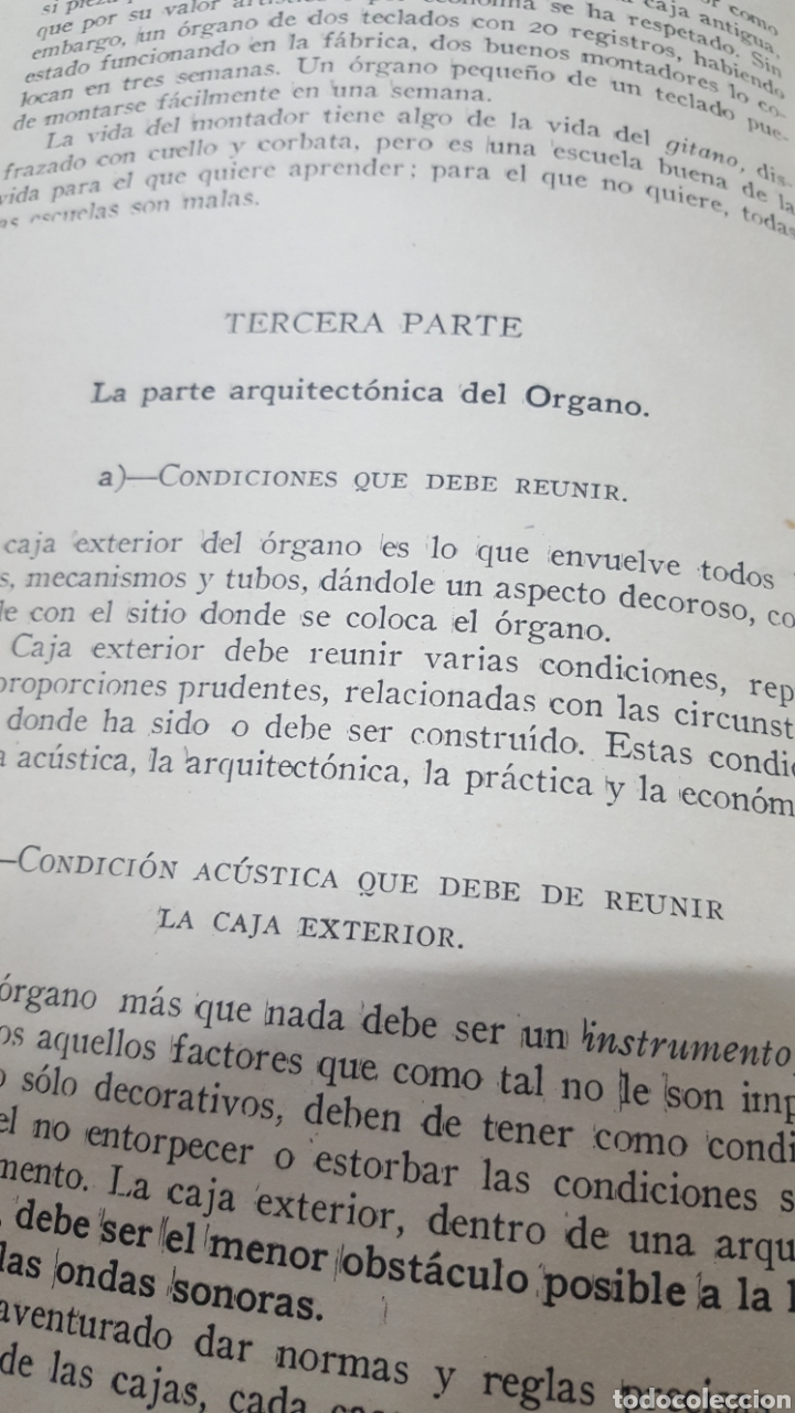 Libros antiguos: MERKLIN, Alberto: ORGANOLOGÍA Exposición científica y gráfica del órgano en todos sus elementos 1924 - Foto 9 - 210100270