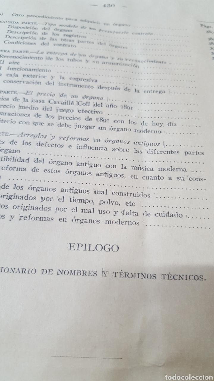 Libros antiguos: MERKLIN, Alberto: ORGANOLOGÍA Exposición científica y gráfica del órgano en todos sus elementos 1924 - Foto 19 - 210100270