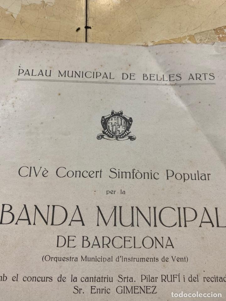 Libros antiguos: Revista Banda Municipal dé Barcelona. 1935 - Foto 2 - 210264485