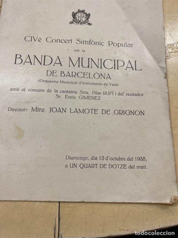 Libros antiguos: Revista Banda Municipal dé Barcelona. 1935 - Foto 3 - 210264485