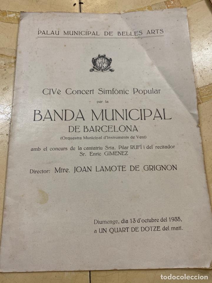 REVISTA BANDA MUNICIPAL DÉ BARCELONA. 1935 (Libros Antiguos, Raros y Curiosos - Bellas artes, ocio y coleccion - Música)