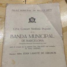 Libros antiguos: REVISTA BANDA MUNICIPAL DÉ BARCELONA. 1935. Lote 210264485