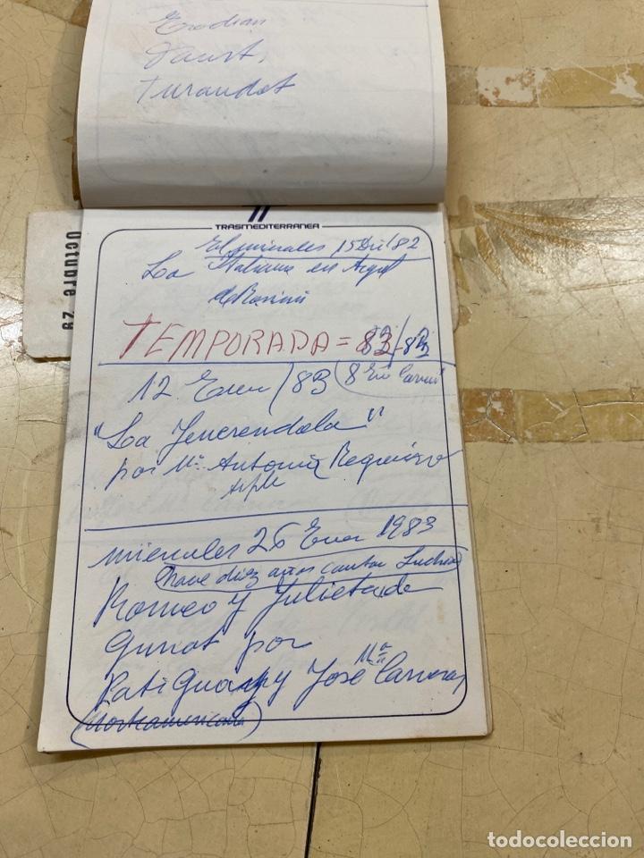 Libros antiguos: Librito personal de óperas del liceo. - Foto 3 - 210264647