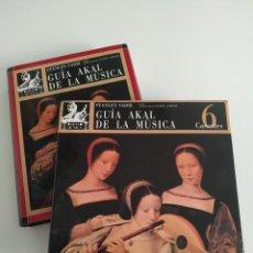 Libros antiguos: STANLEY SADIE. GUÍA AKAL DE LA MÚSICA + 6 CASSETTES. Lote 211410729