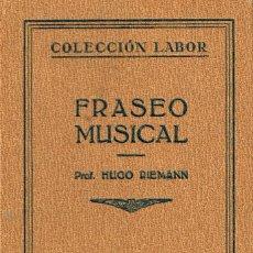 Livres anciens: DICTADO MUSICAL (HUGO RIEMANN), VER INDICE. Lote 212301273