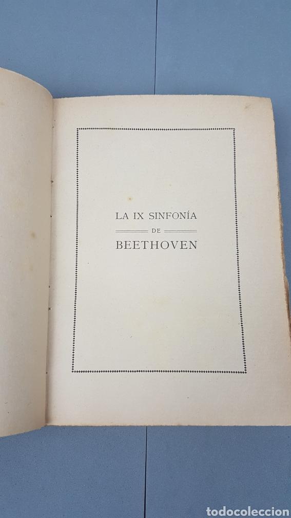 Libros antiguos: LA IX SINFONIA DE BEETHOVEN POR MATEO H. BARROSO. ENSAYO DE CRITICA Y ESTETICA MUSICAL. Madrid 1912 - Foto 2 - 212643737
