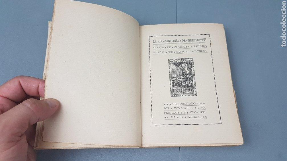 Libros antiguos: LA IX SINFONIA DE BEETHOVEN POR MATEO H. BARROSO. ENSAYO DE CRITICA Y ESTETICA MUSICAL. Madrid 1912 - Foto 3 - 212643737