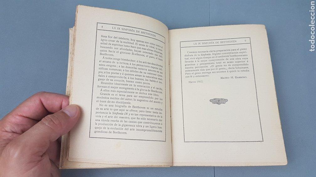 Libros antiguos: LA IX SINFONIA DE BEETHOVEN POR MATEO H. BARROSO. ENSAYO DE CRITICA Y ESTETICA MUSICAL. Madrid 1912 - Foto 5 - 212643737