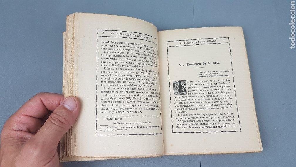 Libros antiguos: LA IX SINFONIA DE BEETHOVEN POR MATEO H. BARROSO. ENSAYO DE CRITICA Y ESTETICA MUSICAL. Madrid 1912 - Foto 6 - 212643737