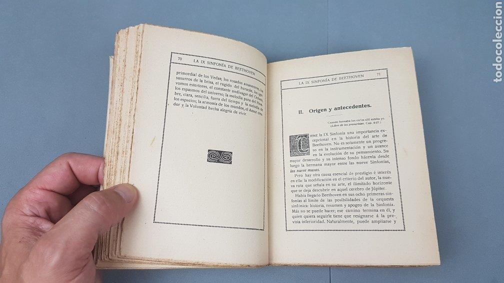 Libros antiguos: LA IX SINFONIA DE BEETHOVEN POR MATEO H. BARROSO. ENSAYO DE CRITICA Y ESTETICA MUSICAL. Madrid 1912 - Foto 7 - 212643737