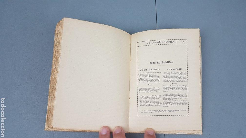 Libros antiguos: LA IX SINFONIA DE BEETHOVEN POR MATEO H. BARROSO. ENSAYO DE CRITICA Y ESTETICA MUSICAL. Madrid 1912 - Foto 10 - 212643737