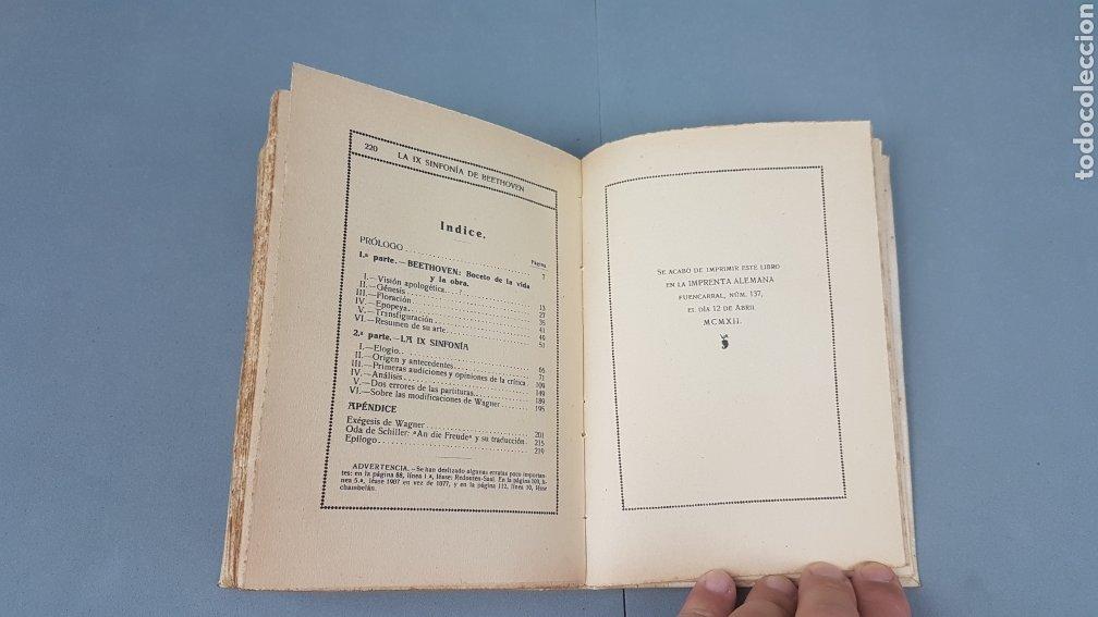 Libros antiguos: LA IX SINFONIA DE BEETHOVEN POR MATEO H. BARROSO. ENSAYO DE CRITICA Y ESTETICA MUSICAL. Madrid 1912 - Foto 13 - 212643737