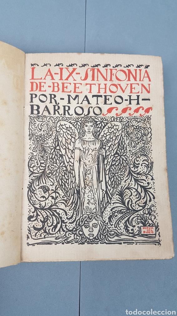 LA IX SINFONIA DE BEETHOVEN POR MATEO H. BARROSO. ENSAYO DE CRITICA Y ESTETICA MUSICAL. MADRID 1912 (Libros Antiguos, Raros y Curiosos - Bellas artes, ocio y coleccion - Música)