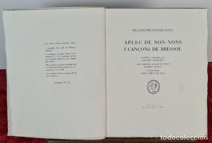 Libros antiguos: APLEC DE NON-NONS I CANÇONS DE BRESSOL. JOSEP GIBERT. TIP. BOSCH. 1948. - Foto 2 - 212680311
