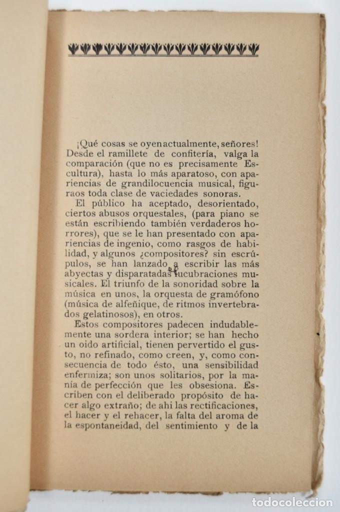 Libros antiguos: Rogelio Villar. De Música, Cuestiones Palpitantes. Opúsculo. Madrid, Ricardo Rodriguez Editor. 1917 - Foto 4 - 212846608