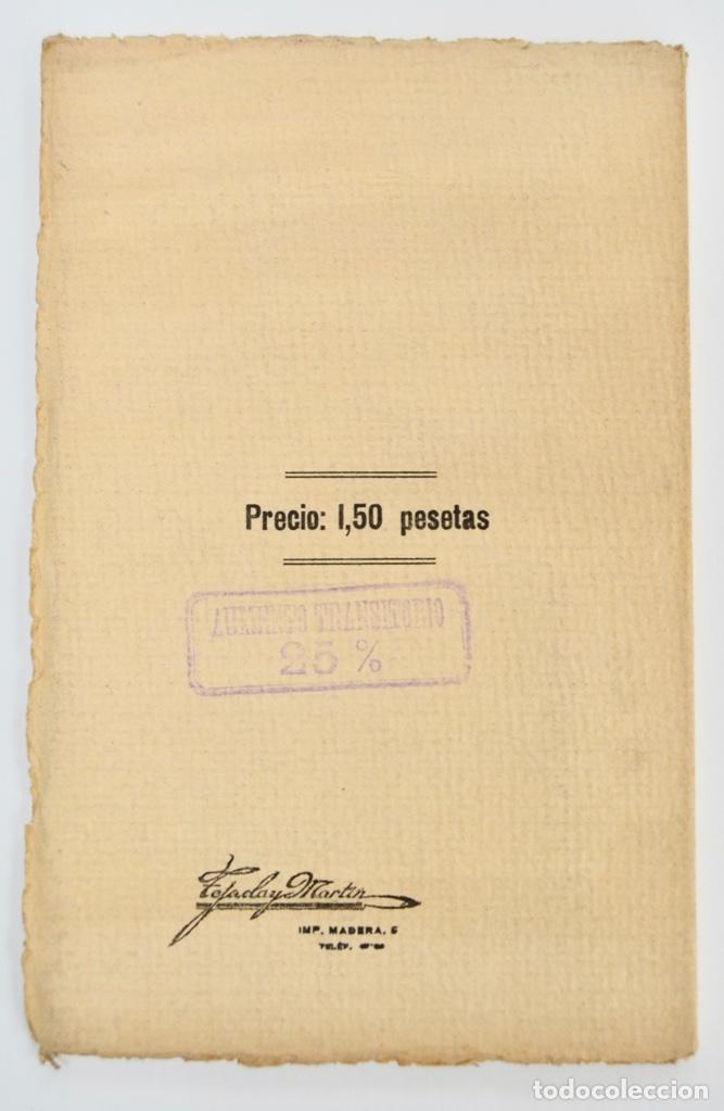 Libros antiguos: Rogelio Villar. De Música, Cuestiones Palpitantes. Opúsculo. Madrid, Ricardo Rodriguez Editor. 1917 - Foto 5 - 212846608