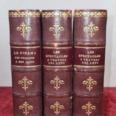 Libros antiguos: LES SPECTACLES ET LE CINEMA A TREVERS LES AGES. EDIT. CYGNE. 3 VOL. 1932.. Lote 213067011