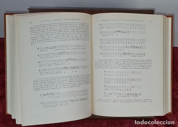 Libros antiguos: LA MUSICA A CATALUNYA FINS AL SEGLE XIII. HIGINI ANGLES. ESTUDIS CATALANS. 1935. - Foto 3 - 213073057