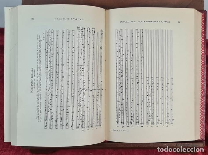 Libros antiguos: LA MUSICA MEDIEVAL EN NAVARRA. HIGINIO ANGLES. DIPUTACION DE NAVARRA. 1970. - Foto 3 - 213130915