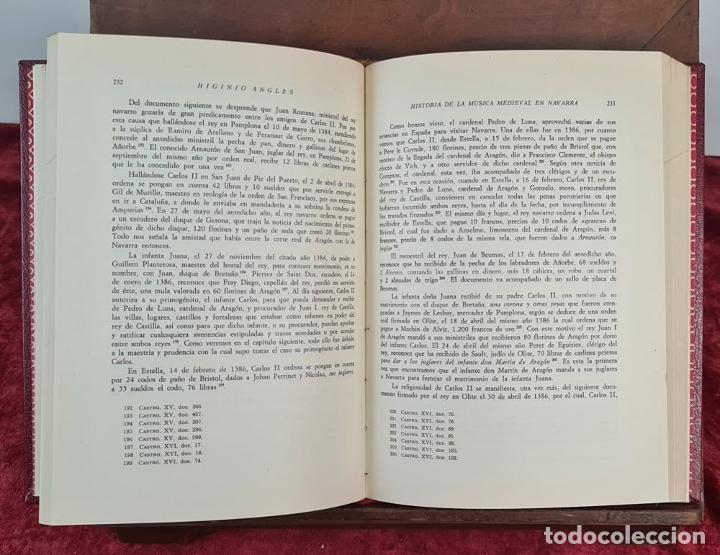Libros antiguos: LA MUSICA MEDIEVAL EN NAVARRA. HIGINIO ANGLES. DIPUTACION DE NAVARRA. 1970. - Foto 6 - 213130915