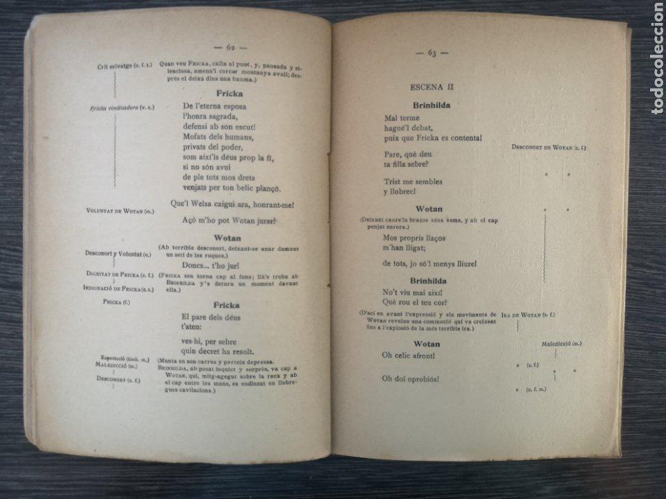 Libros antiguos: LANELL DEL NIBELUNG. LA WALKIRIA. WAGNER. ASSOCIACIÓ WAGNERIANA. 1910. 156 PG. 19 X 14 CM - Foto 4 - 216413761