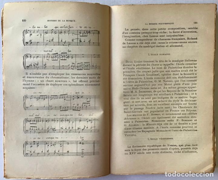 Libros antiguos: HISTOIRE DE LA MUSIQUE. - NEF, Charles. - Foto 4 - 123222854