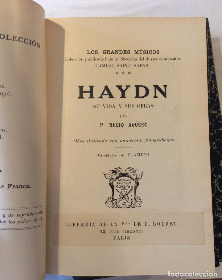 Libros antiguos: BEETHOBEN-SCHÙBERT ,BACH HAENDEL -HAYDN,MOZART Ramírez Ángel, E. Editorial: Casa Editorial Hispano-A - Foto 3 - 216915996