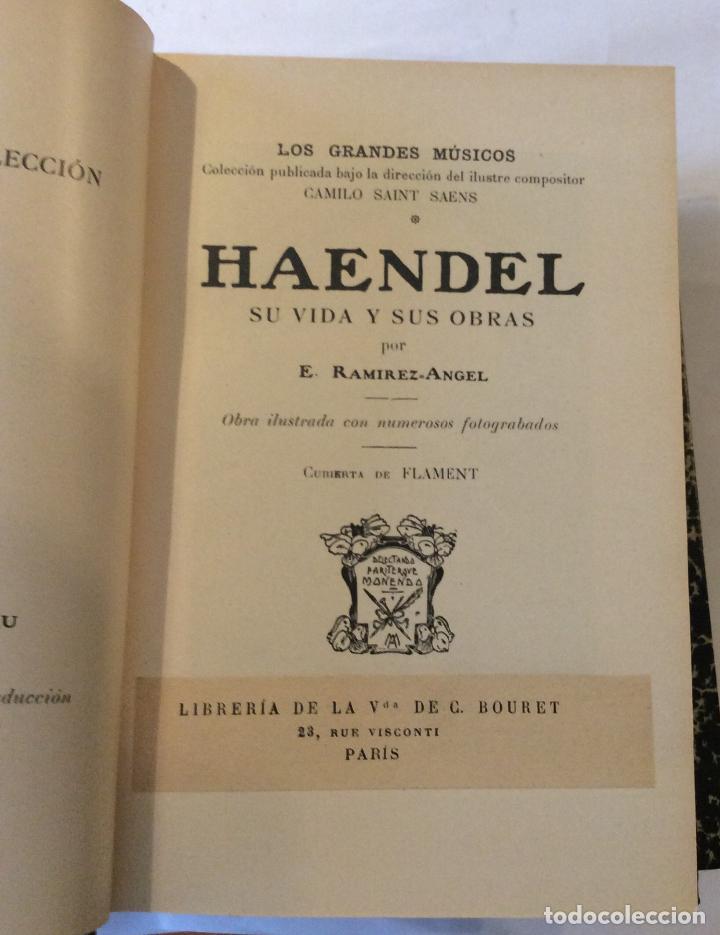 Libros antiguos: BEETHOBEN-SCHÙBERT ,BACH HAENDEL -HAYDN,MOZART Ramírez Ángel, E. Editorial: Casa Editorial Hispano-A - Foto 4 - 216915996