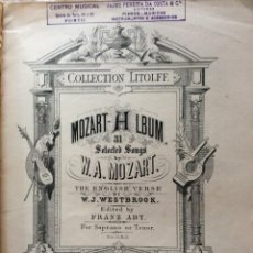 Libros antiguos: COLLECTION LITOLFF N.º 267, MOZART ALBUM. 31 SELECTED SONGS. FINALES DEL SIGLO XIX. MUY RARO.. Lote 216973858