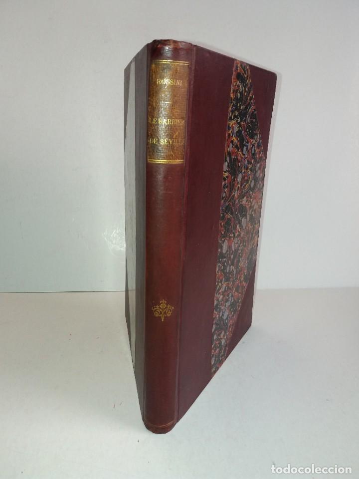 Libros antiguos: BELLO Y CURIOSO EL BARBERO DE SEVILLA O LA PRECAUCION INUTIL ROSSINI OPERA 4 ACTOS MAS DE 160 AÑOS - Foto 2 - 217005033