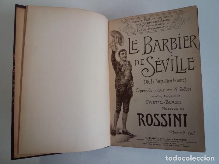 Libros antiguos: BELLO Y CURIOSO EL BARBERO DE SEVILLA O LA PRECAUCION INUTIL ROSSINI OPERA 4 ACTOS MAS DE 160 AÑOS - Foto 14 - 217005033