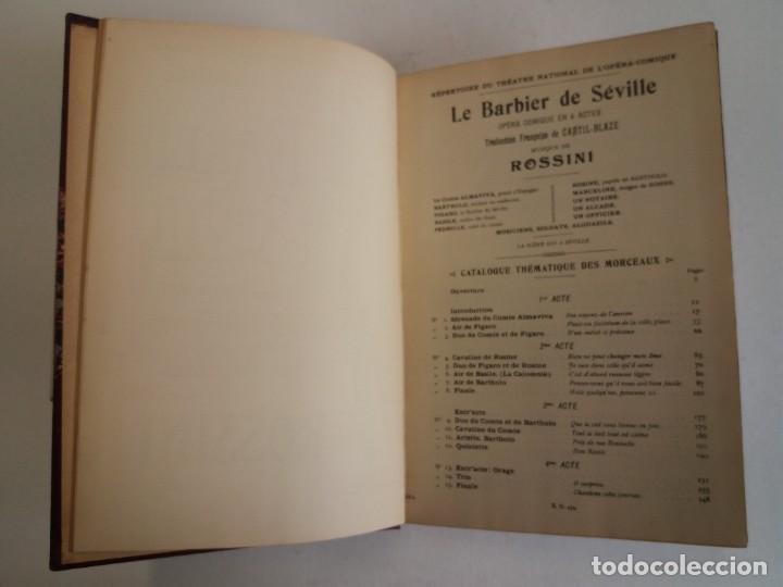 Libros antiguos: BELLO Y CURIOSO EL BARBERO DE SEVILLA O LA PRECAUCION INUTIL ROSSINI OPERA 4 ACTOS MAS DE 160 AÑOS - Foto 15 - 217005033