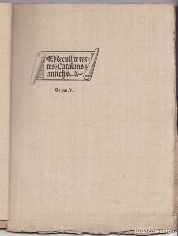 Libros antiguos: CANÇONER DE NADAL - RECULL DE TEXTES CATALANS ANTICS – VOLUM V – 1905 - Foto 2 - 217062815