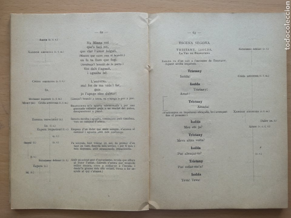 Libros antiguos: TRISTANY Y ISOLDA. ASSOCIACIÓ WAGNERIANA. RICARD WAGNER. JERONI ZANNÉ II JOAQUIM PENA. 1925 - Foto 2 - 217708466