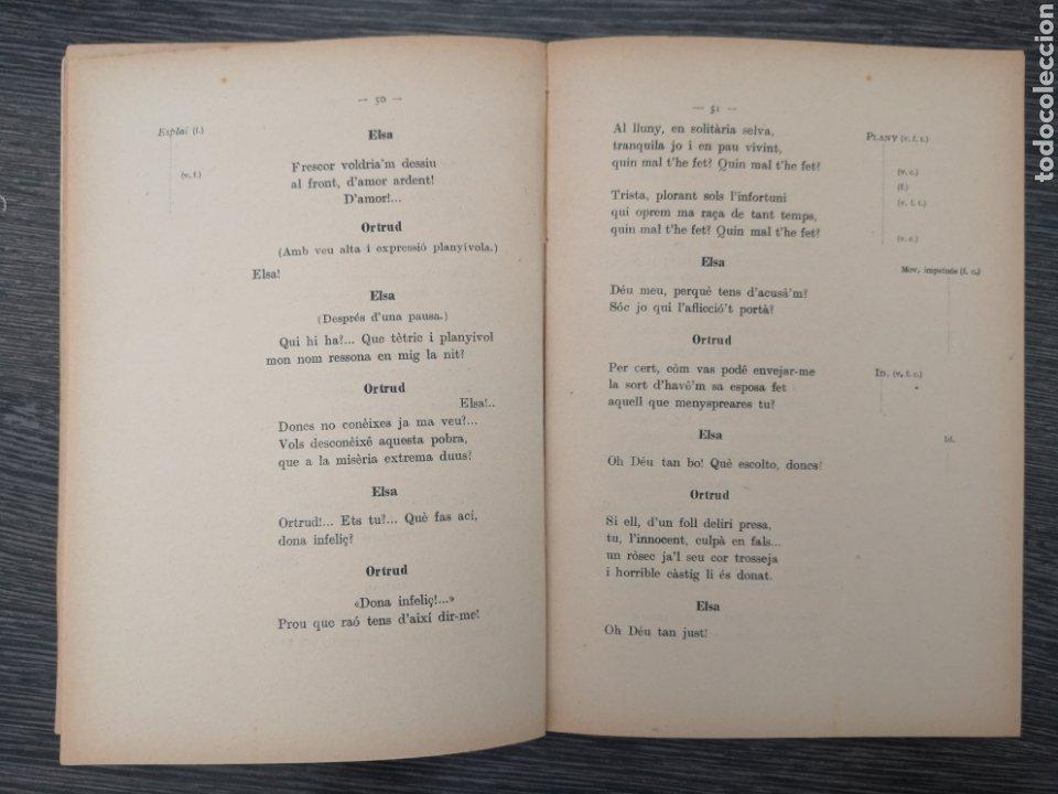 Libros antiguos: LIBRETO. LOHENGRIN . RICHARD WAGNER. ASSOCIACIÓ WAGNERIANA. JOAQUIM PENA. 1926 - Foto 3 - 217768948
