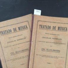 Libros antiguos: TRATADO DE MUSICA, ESCUELAS NORMALES, CH SCHUMANN, 2 TOMOS, 1917. Lote 218193645